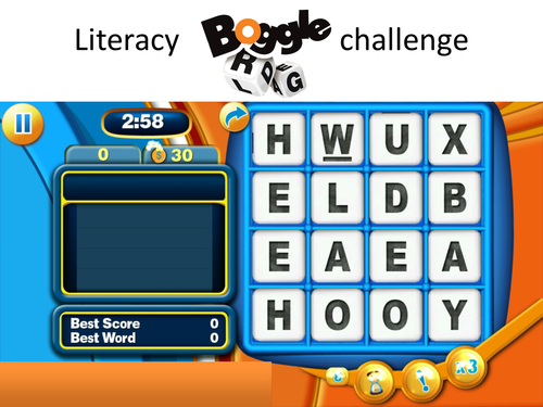 BOGGLE - Form Time Literacy