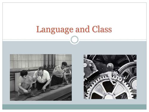 English Language Variations: Social Class