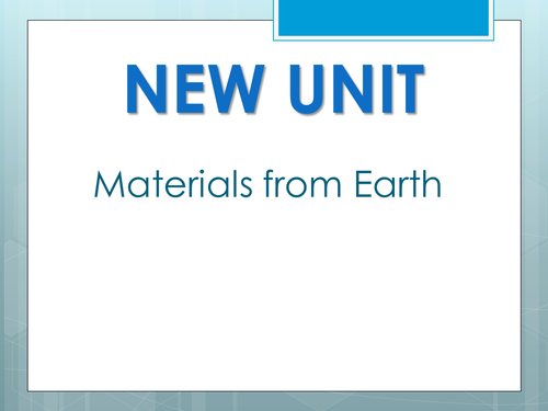 Year 8 Materials from Earth UNIT Resources