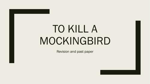 To Kill a Mockingbird Exam final revision 2016 by