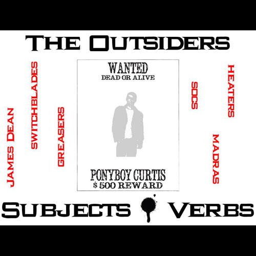 OUTSIDERS Subjects and Verbs - Grammar Agreement Package