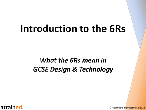 Introduction to the 6Rs