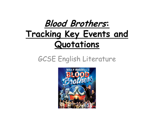 Blood Brothers: BUMPER NOTES! Key Points and Quotes