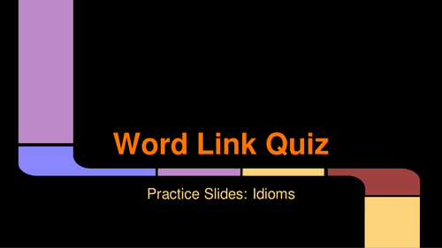 Word Link Quiz Pack