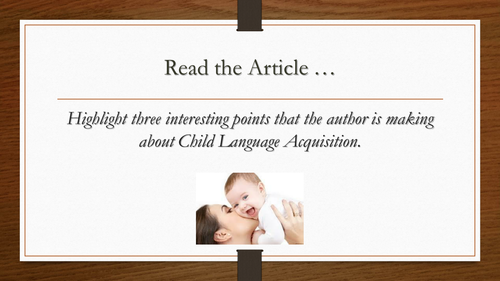 Child Directed Speech