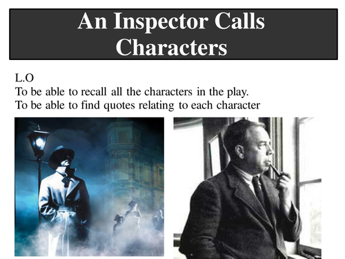 An Inspector Calls 3 Lessons + Worksheets