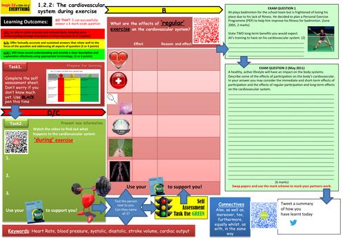 Edexcel GCSE PE - Learning Mat - Cardiovascular System