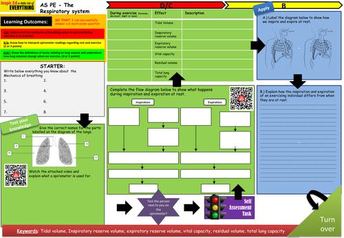 AQA ALevel PE - Learning Mat - Respiratory System