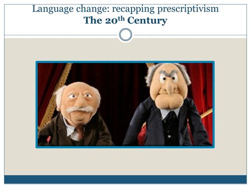 Prescriptivism and Descriptivism - Recap