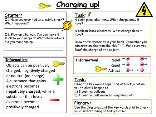 SEN: Key Stage 3 Charging Up