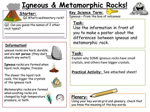 SEN Key Stage 3: Igneous and Metamorphic Rock