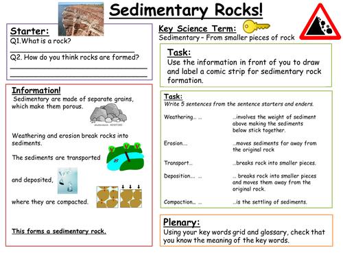SEN Key Stage 3: Sedimentary Rock