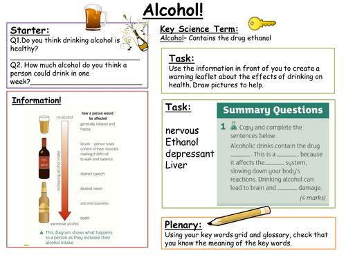 SEN KS3: Alcohol
