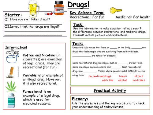 Sen Key Stage 3 Drugs By Alaina93 Teaching Resources
