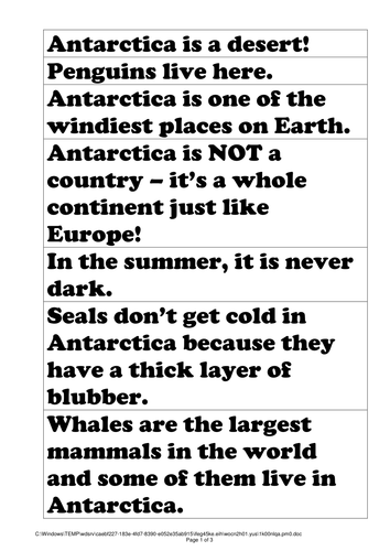 Antartica topic planner, resources and assessment!