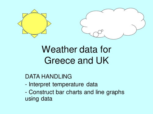 Greece and UK temperature data. Data handling. Topic. Term start idea.