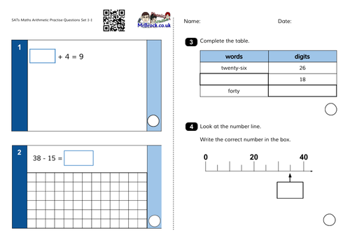 Practise KS1 SATs Questions Maths Arithmetic and Reasoning (similar to the 2016 sample papers)
