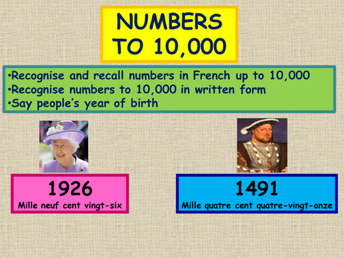 French Numbers to 10,000