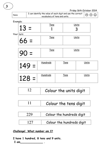 Partitioning worksheets - three differentiated levels