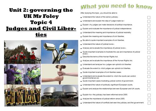 UK Politics Judiciary and Civil Liberties Workbooklet