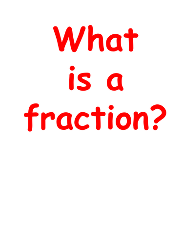 Fraction of a shape