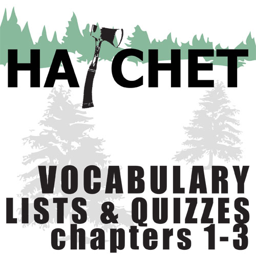 HATCHET Vocabulary List and Quiz (30 words, chs 1-3)