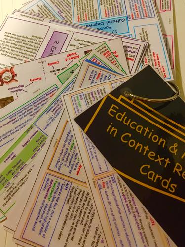 AQA Sociology: Education (2015 Onwards) Revision Slides / Flash Cards