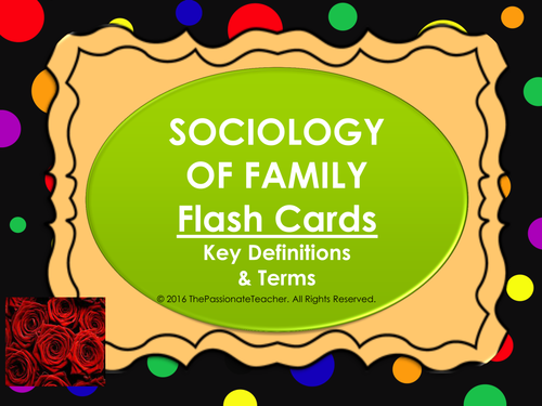 Sociology of Family - Flash Cards
