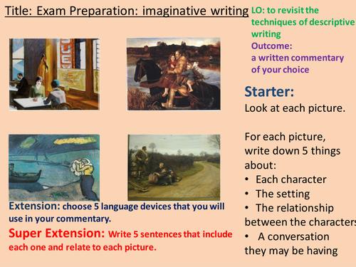 English Language Exam-Imaginative Writing