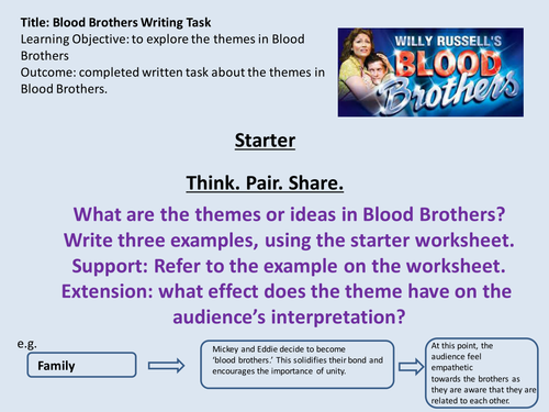 Blood Brothers Lesson-Themes