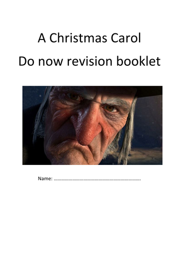 a christmas carol revision booklet by becky peters teaching