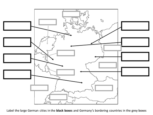 German research task - geography, cities and neighbours, politics, music, art, culture etc.