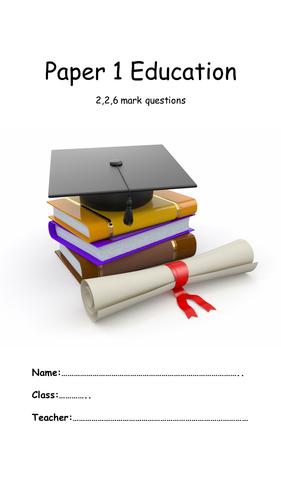 AQA  Paper 1Education booklet