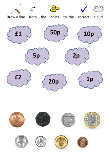 fish coin recognition by kegan9 teaching resources tes. Black Bedroom Furniture Sets. Home Design Ideas