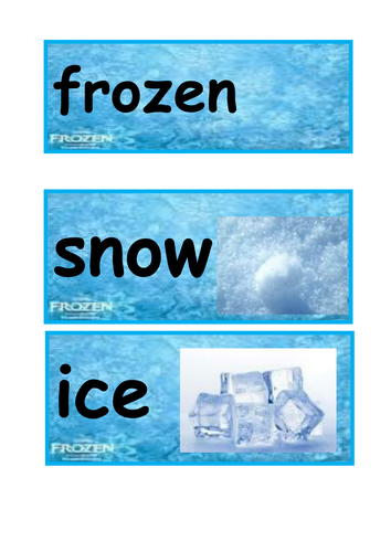 Disney Frozen key word cards