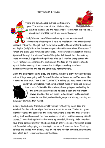 Holly Green's House - Letter-writing task