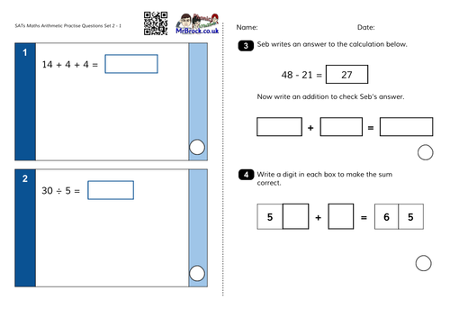 Ks1 Maths Practice Sheets By Ehazelden Teaching Resources Tes