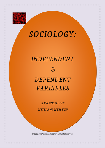 Sociology: Dependent & Independent Variables