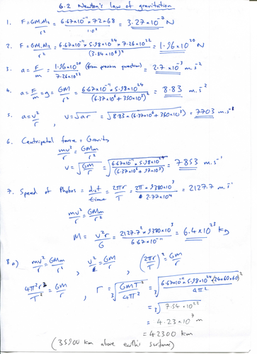 IB Physics Topic 6: Circular motion and gravitation by simoninpng ...