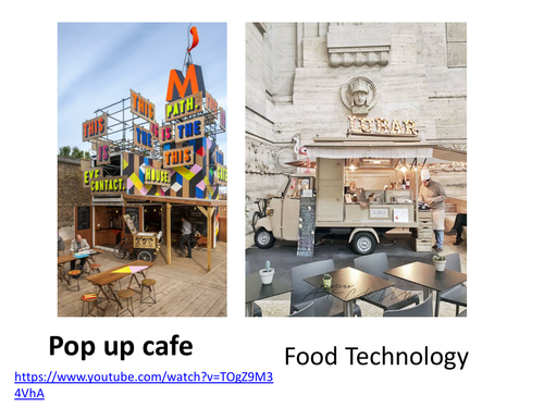 Food Tech Pop up Cafe concept & menu