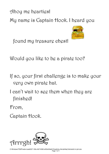 Pirate topic resources