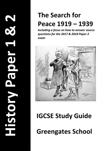 IGCSE History Paper 2 Revision Guide for 2017 & 2018 Topics