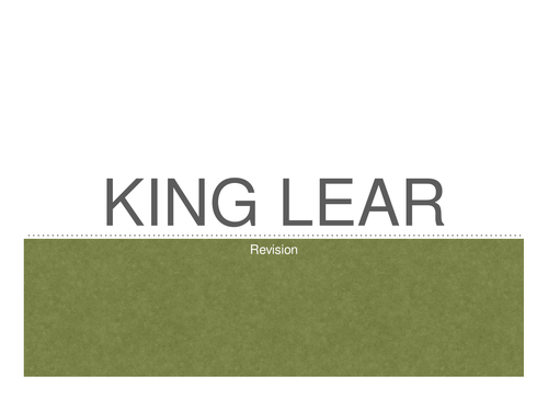 King Lear Revision Presentation