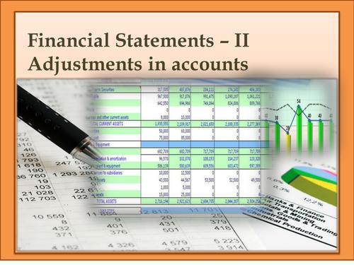 Presentation on Adjustments in Financial Statements