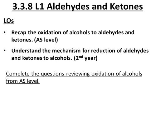 aldehydes and ketones by uk teaching resources tes. Black Bedroom Furniture Sets. Home Design Ideas