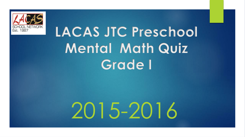 Mental Math Quiz Grade 1 by rbi_1976 - Teaching Resources - Tes
