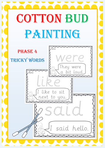 Phase 4 Tricky Word Activities