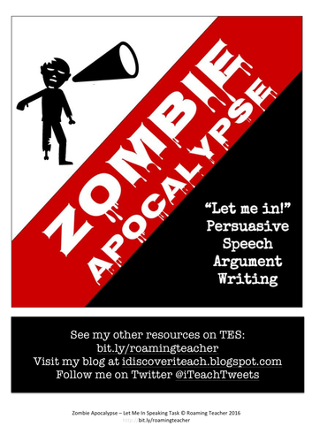 Zombie Apocalypse: Let Me In - Speaking Task