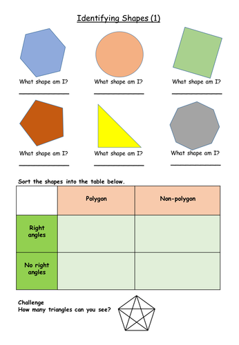 year 3 identifying and sorting 2d shapes worksheet differentiated by howl1 teaching resources. Black Bedroom Furniture Sets. Home Design Ideas
