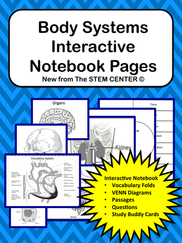 Body Systems Interactive Science Notebook by stemcenter - Teaching ...